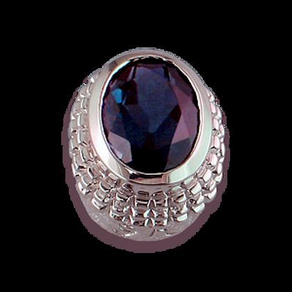 Oval Gemstones Sterling Silver Bezel with Iolite