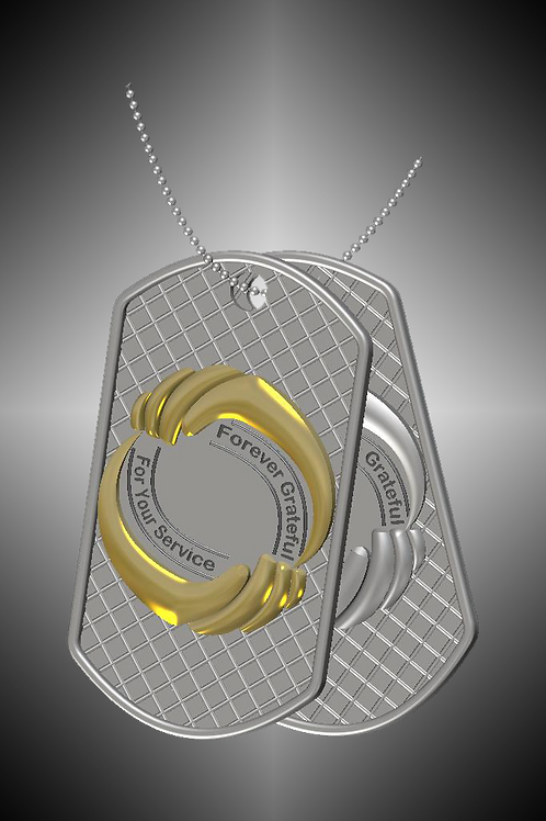 GK Cares Tags Set: Pendants Sterling Silver, Sterling &14K Yellow Gold