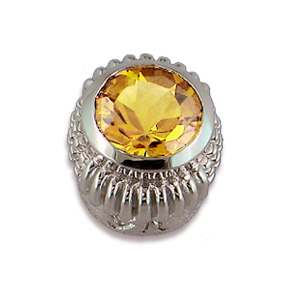 Oval Gemstones Sterling Silver Bezel with Champagne Citrine
