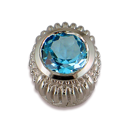 Oval Gemstones Sterling Silver Bezel with Swiss Blue Topaz