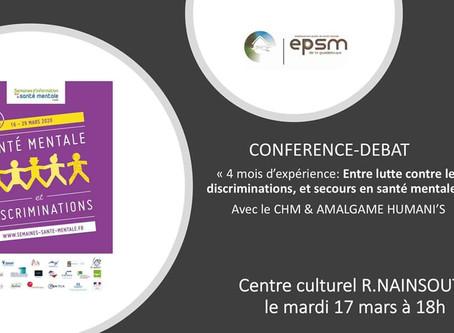 Conférence débat Santé mentale et discriminations à R.NAINSOUTA