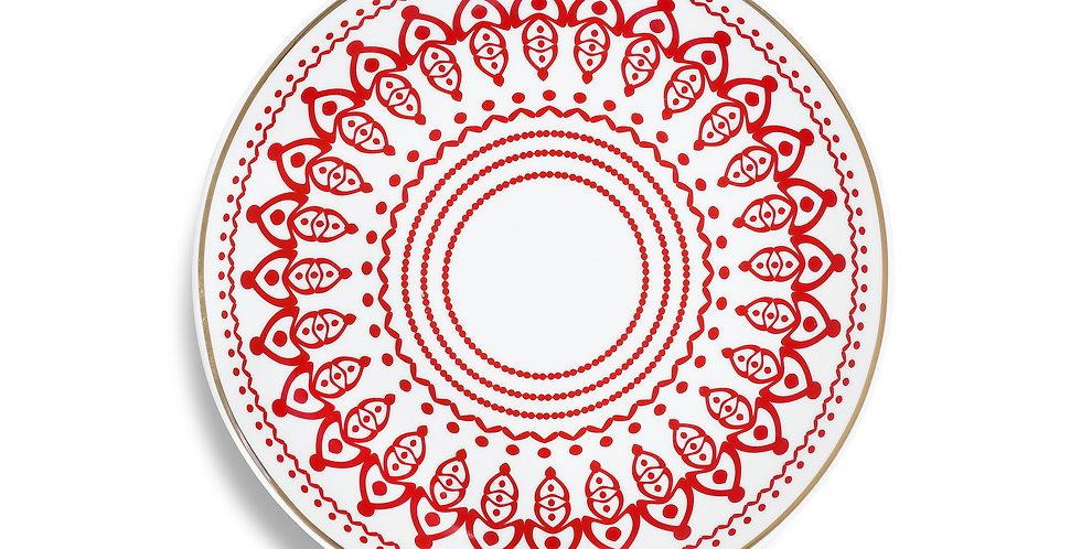 Horse Luck Collection Red -23cm Düz Tabak
