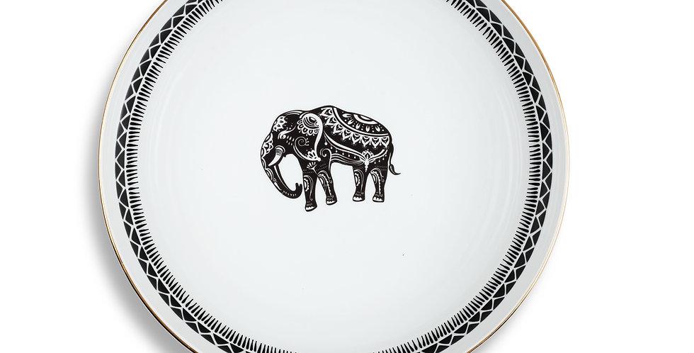 25 cm Fil Figürlü Büyük Servis Kase