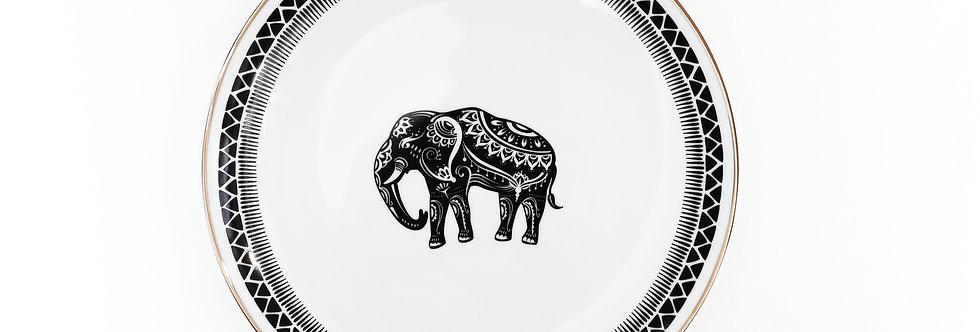 23 cm Fil Figürlü Düz Tabak