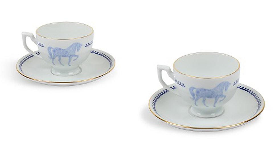 Horse Luck Collection Blue - 2'li Türk Kahve Fincanı Set