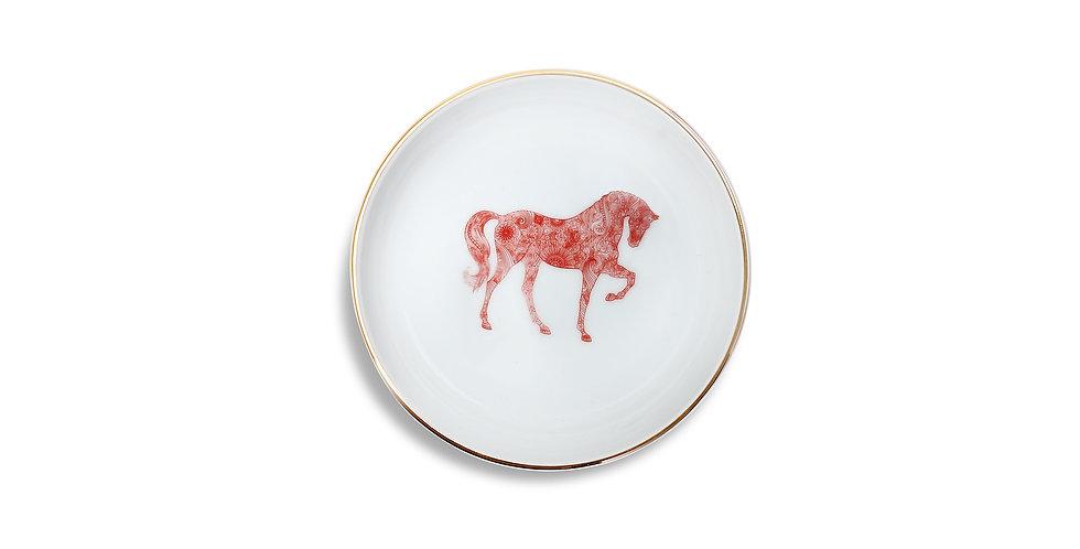 Horse Luck Collection-Red 13cm At Figürlü Bordo Çorba Kase
