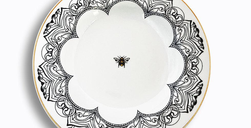 22 cm Arı Figürlü Çukur Tabak (Sulu Yemek)