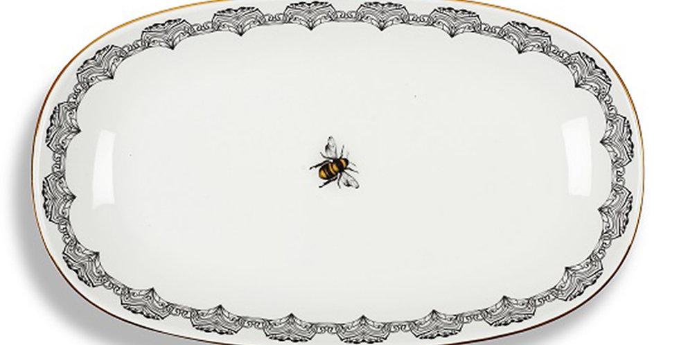 Bee Happy Collection - 34cm Kayık Servis Tabak
