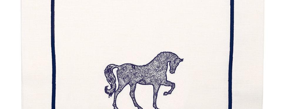 Horse Luck Collection-Blue At Figürlü Runner