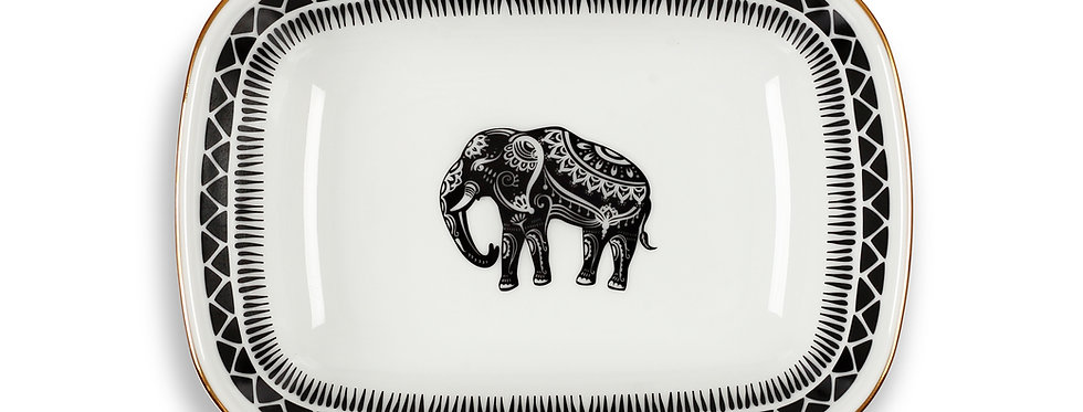 Some Wild Collection 17cm fil figürlü kare tabak