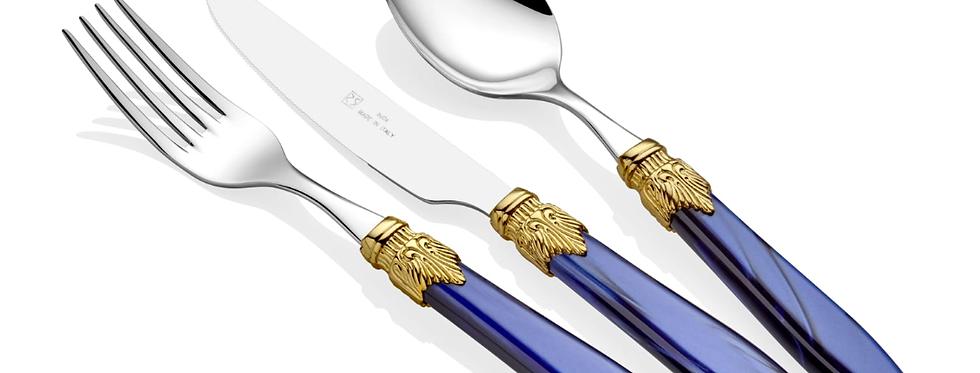 Laura Ring Lacivert 75 Parça Çatal Bıçak Seti