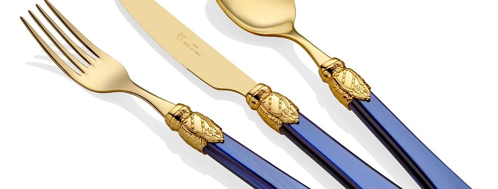 Vittoria Oro Lacivert 75 Parça Çatal Bıçak Seti