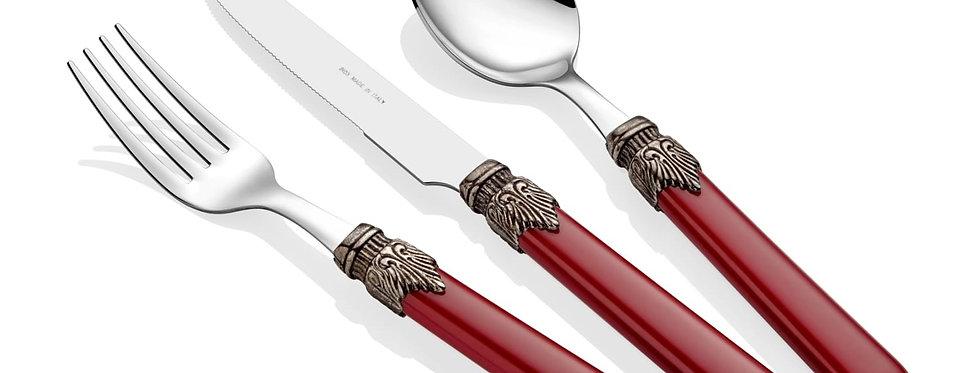 Classic Bordo 24 Parça Çatal Bıçak Seti