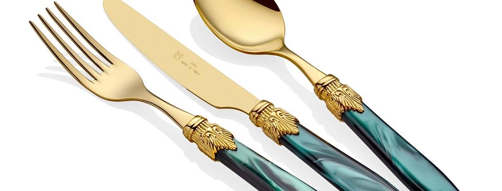 Laura Oro Yeşil 75 Parça Çatal Bıçak Seti