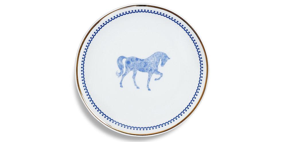 Horse Luck Collection Blue - 17cm Ekmek Tabak