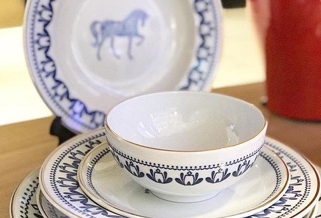 Horse Luck Collection-Blue 6'lı Tabak Set (44 parça)