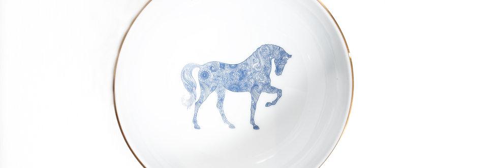 Horse Luck Collection-Blue 13cm At Figürlü Lacivert Çorba Kase