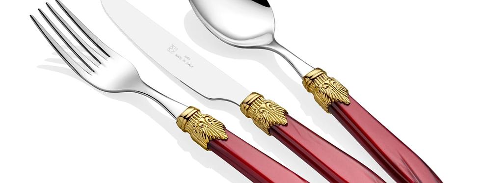 Laura Ring Bordo 75 Parça Çatal Bıçak Seti