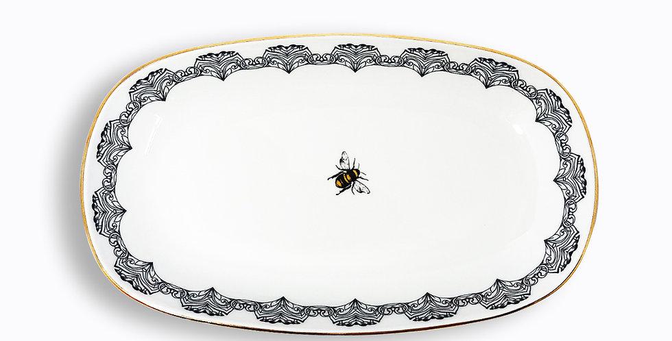 29 cm Arı Figürlü Kayık Servis Tabak