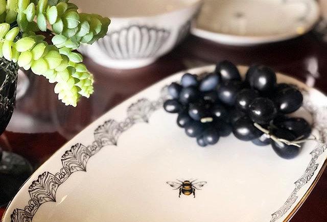 Bee Happy Collection 8'li Tabak Set (59 parça)