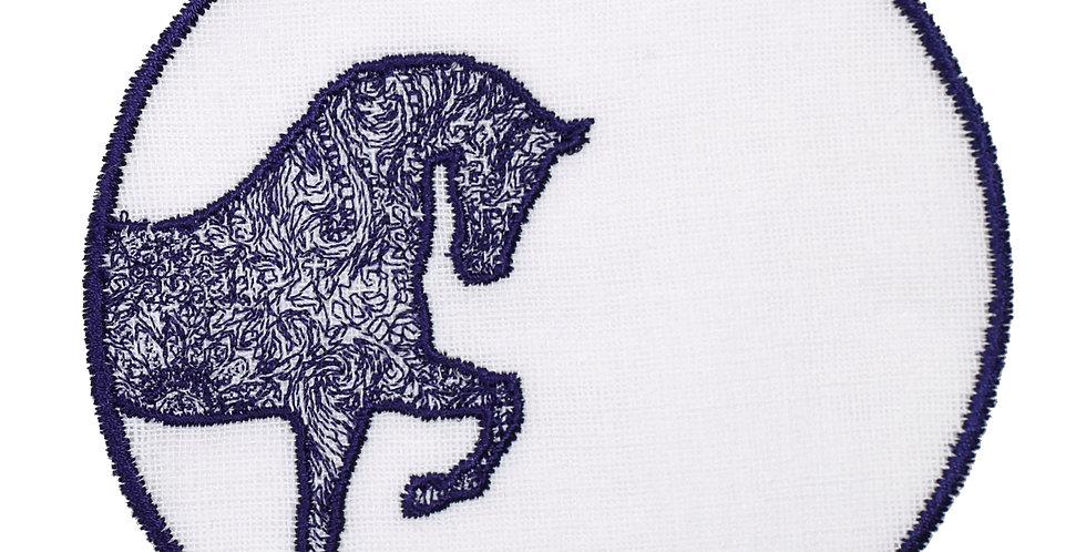 Horse Luck Collection-Blue At Figürlü Bardak Altlığı