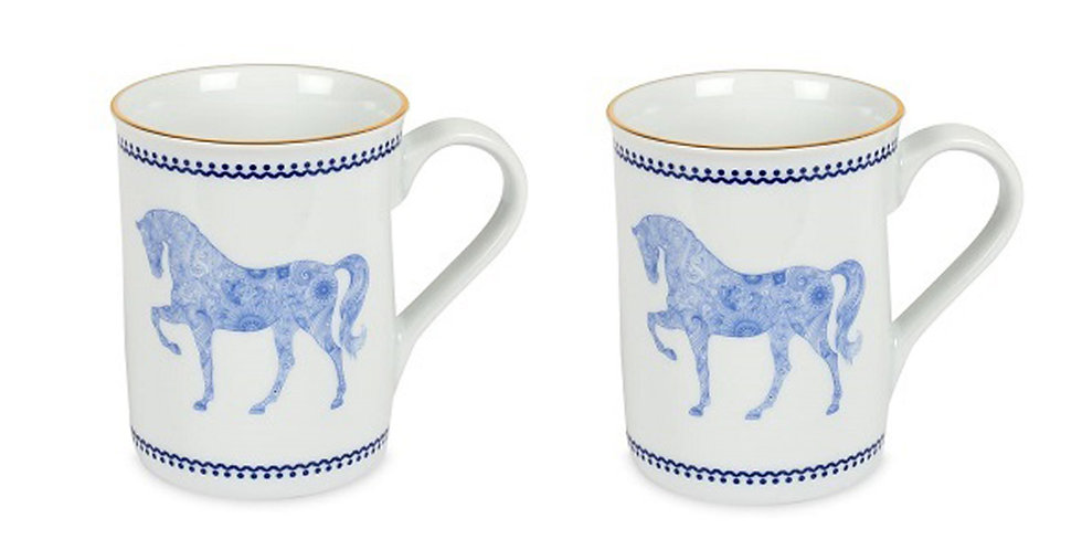 Horse Luck Collection Blue - Kupa 2'li Set