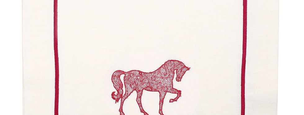 Horse Luck Collection-Red At Figürlü Runner