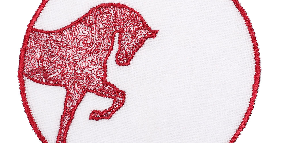 Horse Luck Collection Red - Bardak Altlığı