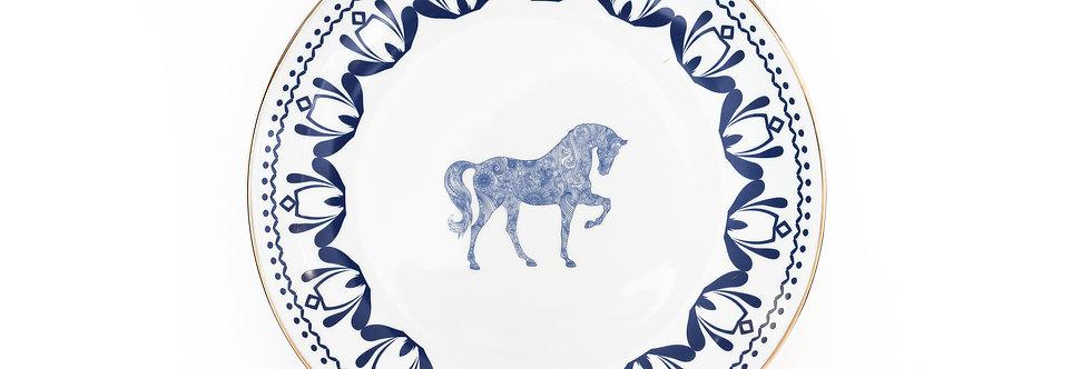 Horse Luck Collection-Blue 28 cm At Figürlü Lacivert Servis Tabak (Supla)
