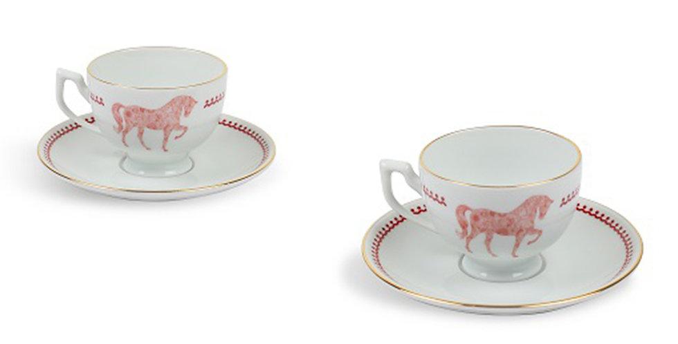 Horse Luck Collection Red - 2'li Türk Kahvesi Fincan Set