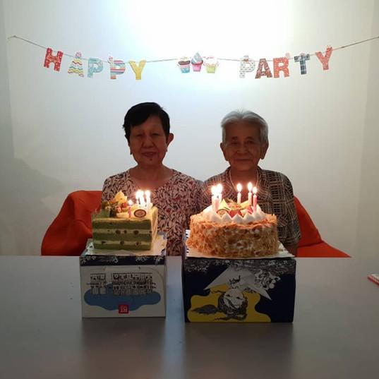 elderly celebration
