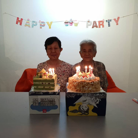 elderly celebration