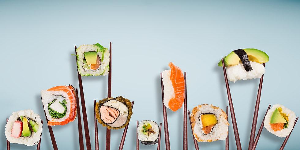 Aosome chopsticks sushi