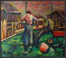 elalini series - oil on canvas - 120x120cm - 1996