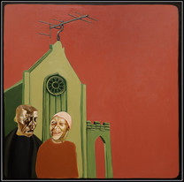 digital gothic - acrylic on canvas - 90x90cm - 2011
