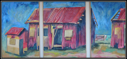 elalini series - oil on canvas - 120x70cm each panel tryptich - 1996