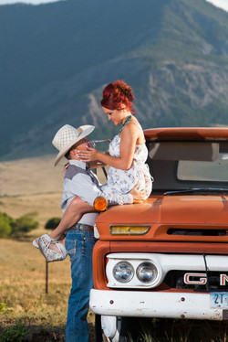 Love old trucks, cowboys & mountains
