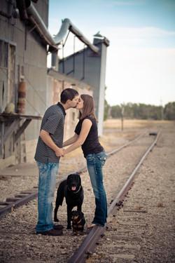 Railroad track kisses