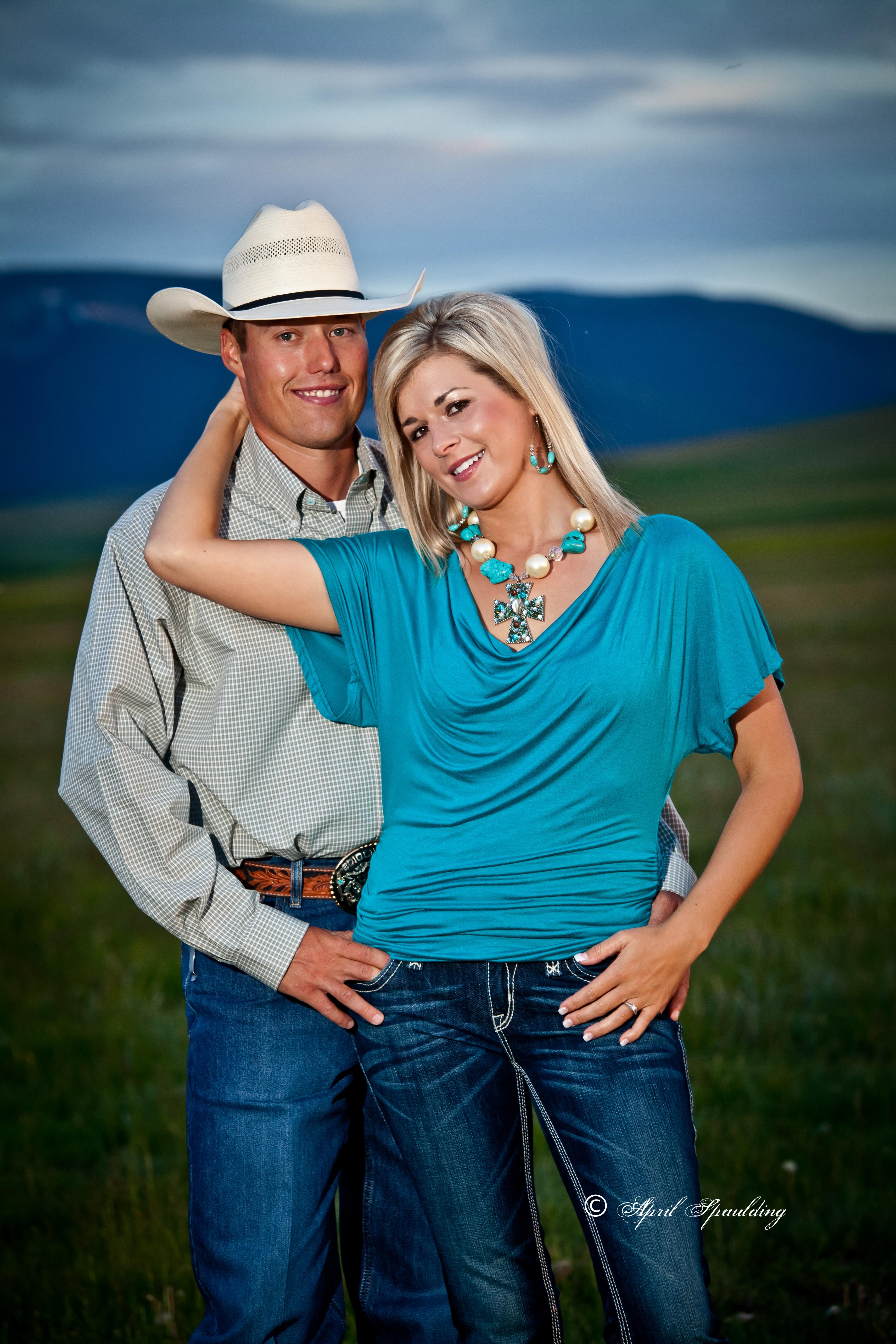 Cowboy engagement session