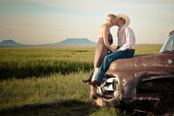 Kissing on the old truck