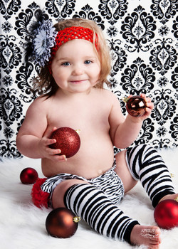 Baby christmas portrait
