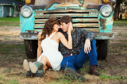 Teal old truck engagment