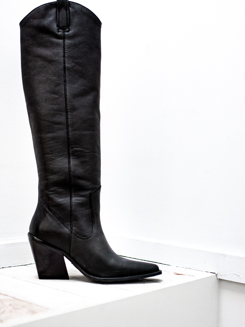 Large black boot