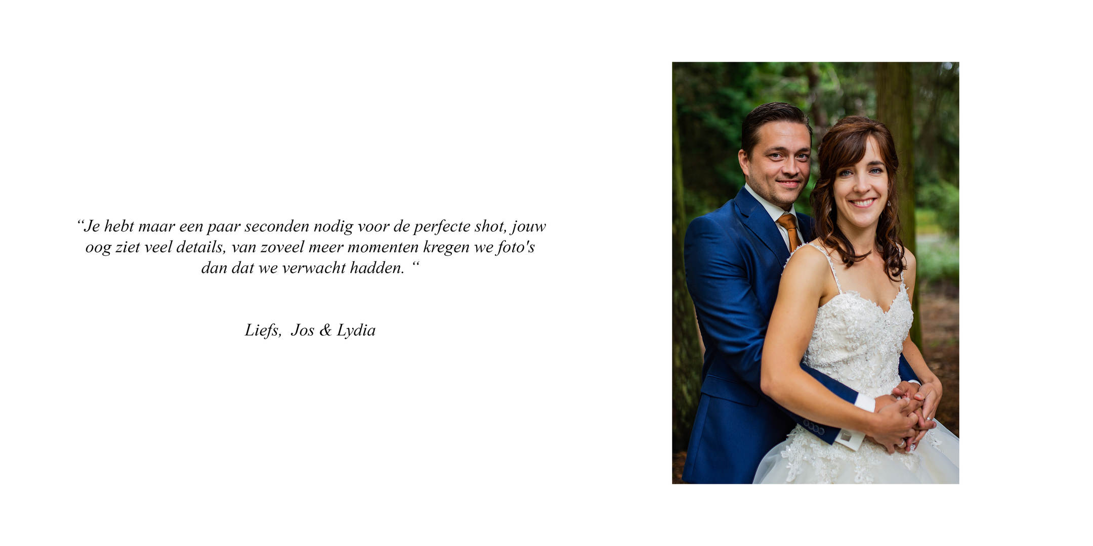 De bruiloft van Lydia & Jos