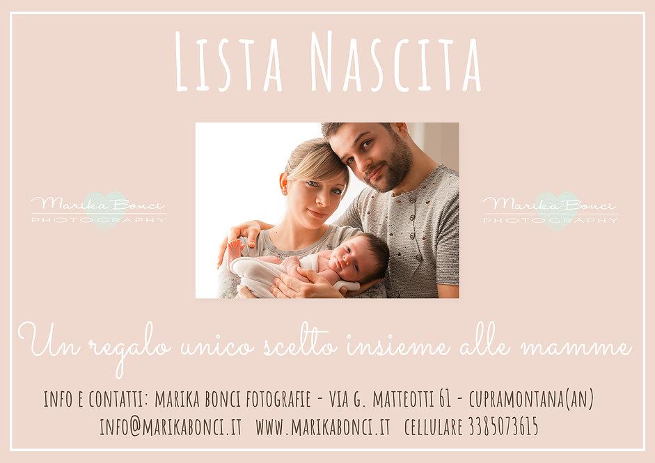 lista nascita SERVIZIO fotografico