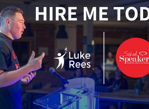 Luke joins School Speakers - The UK's number 1 speaker agency
