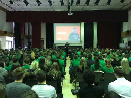 Luke Rees School Speaking Photo