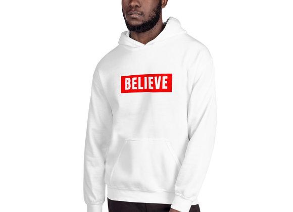 Unisex Red Believe Hoodie