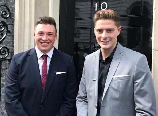 Luke meets UK Prime Minister at 10 Downing Street