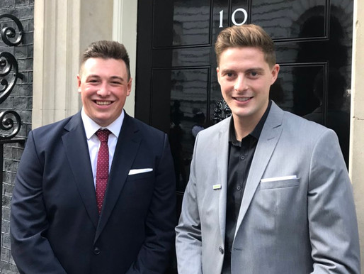 Luke meets UK Prime Minister at 10 Downing Street